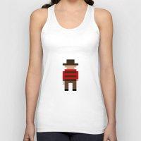freddy krueger Tank Tops featuring Freddy Krueger / A Nightmare on Elm Street by Pixel Icons