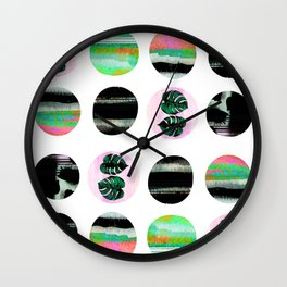 leaves and colors Wall Clock
