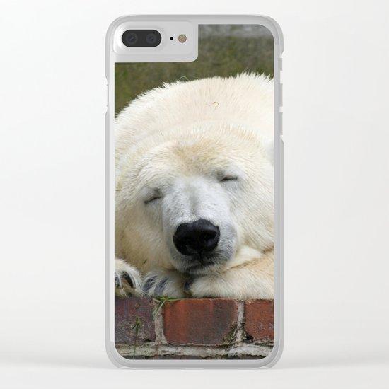 Polar Bear 003 Clear iPhone Case