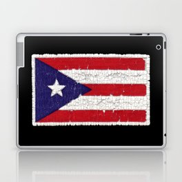 Puerto Rican flag with distressed textures Laptop & iPad Skin