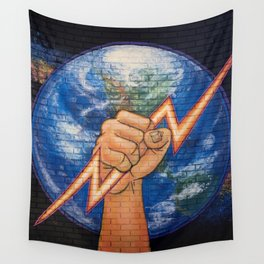 Earth Power (Mural at Battery Land, Gainesville FL Wall Tapestry