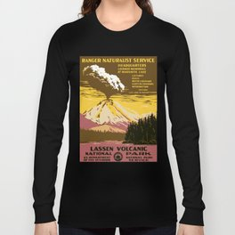 Vintage Lassen Volcanic National Park Long Sleeve T-shirt