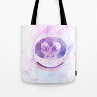 planet of the apes Tote Bags featuring a planet where... by avoid peril