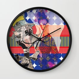 Fashionable Cat in the Hat Wall Clock