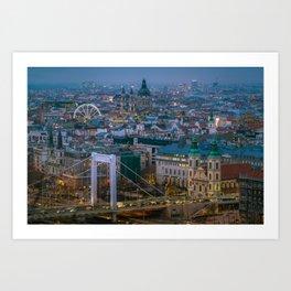 Evening view Art Print