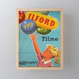 vintage Plakat ilford filme austria Framed Mini Art Print