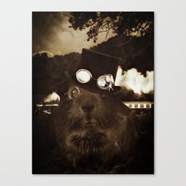 Steampunk Guinea Pig Canvas Print