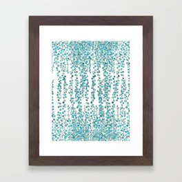 string of pearl watercolor Framed Art Print