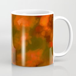 Red, Orange Floral Abstract Coffee Mug