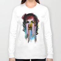 lovecraft Long Sleeve T-shirts featuring Howard Phillips Lovecraft  by DIVIDUS