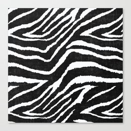 ANIMAL PRINT ZEBRA GRAY RUSTIC Canvas Print