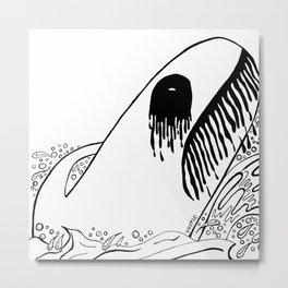 Black Metal Fish Fig. 1 Metal Print