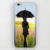 umbrella iPhone & iPod Skins featuring Umbrella by Cs025