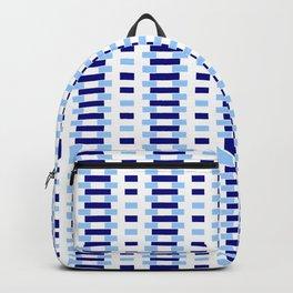 optical pattern 34 blue Backpack
