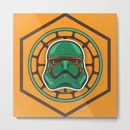 First Order TMNT Stormtrooper - Michelangelo Metal Print