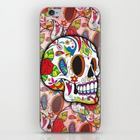 sugar skulls iPhone & iPod Skins featuring Sugar Skulls by Spooky Dooky