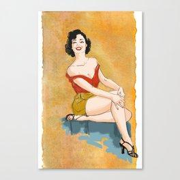 Pin-up Love! Canvas Print