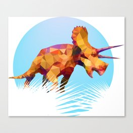 Party Triceratops Canvas Print