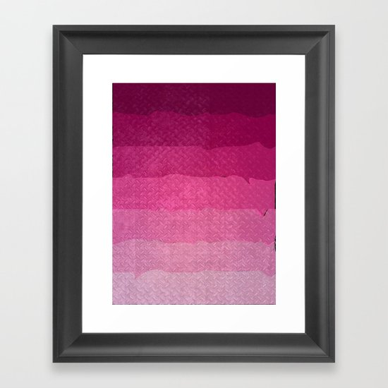 Strawberry grunge Framed Art Print