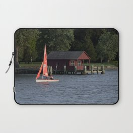Boating on the Connecticut River Laptop Sleeve