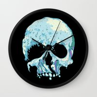 silent Wall Clocks featuring Silent Wave by Huebucket