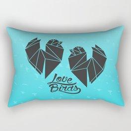 Tiny Little Love Birds Rectangular Pillow