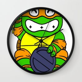 lucky turtle Wall Clock
