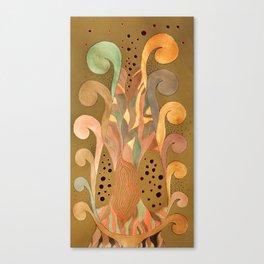 Wood met the antlers Canvas Print