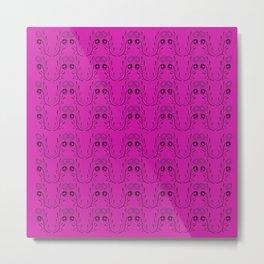 Luxury mandalas pink geometric Metal Print
