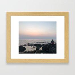 sunset girl Framed Art Print