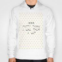 calendars Hoodies featuring Mmm, pretty things ~ Polka Dots ~ poster ~ typography ~ illistration by Shabby Design Studio