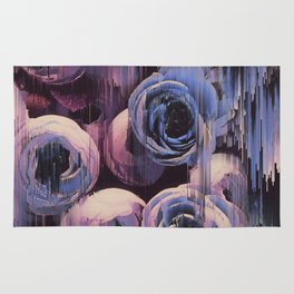 Floral Glitches Rug