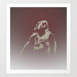 Gorilla Ghost Art Print
