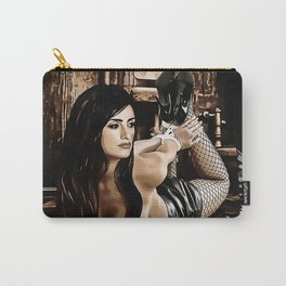 Celebrity in bondage - Penelope Cruz Fantasy, kinky erotic nude, cartoon style BDSM, fetish nude Carry-All Pouch