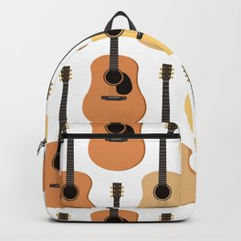 Acoustic Guitars Pattern Backpack