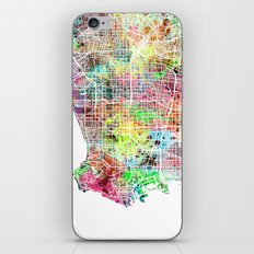Los Angeles map california iPhone & iPod Skin