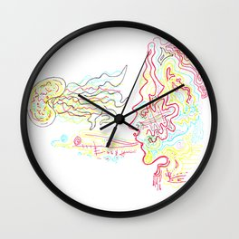 lady+jellybeanfish Wall Clock