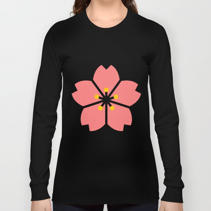 Cherry Blossom Flowers Long Sleeve T-shirt