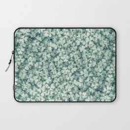 Clover shamrock leaf art, green leaves pattern Laptop Sleeve