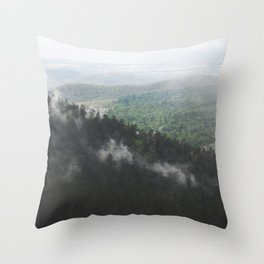 Clouds in the forest Throw Pillow