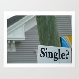 Street Single. Art Print