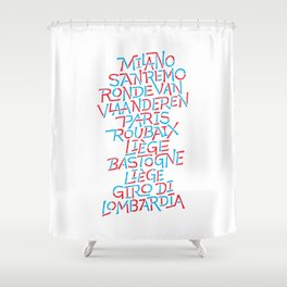 Five Monuments of Cycling Shower Curtain