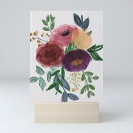 Floral Bouquet in watercolor Mini Art Print