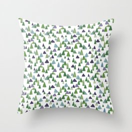 Abstract Watercolor Forest Throw Pillow