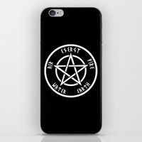pentagram iPhone & iPod Skins featuring Pentagram by Urban Monk Store