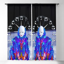 Fairground in Space Blackout Curtain