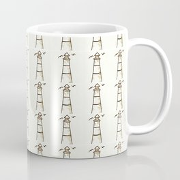 Lighthouse Pattern Coffee Mug