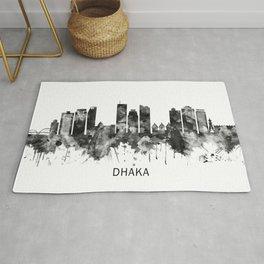 Dhaka Bangladesh Skyline BW Rug