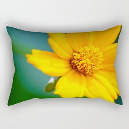 Pretty Golden Flower Rectangular Pillow