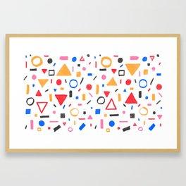 Confetti Framed Art Print